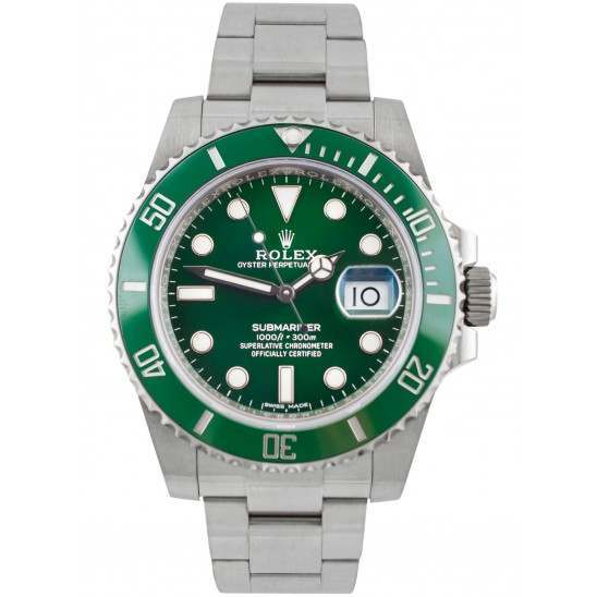 As New Rolex Submariner Date Stainless Steel Green Dial (Hulk) 116610LV