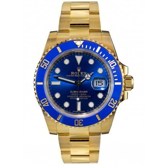 Rolex Submariner 18ct Yellow Gold Blue Dial 116618LB