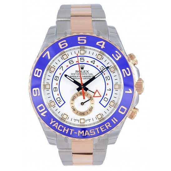 Rolex Yacht-Master II 44mm White/Gold Hour Markers Oyster 116681