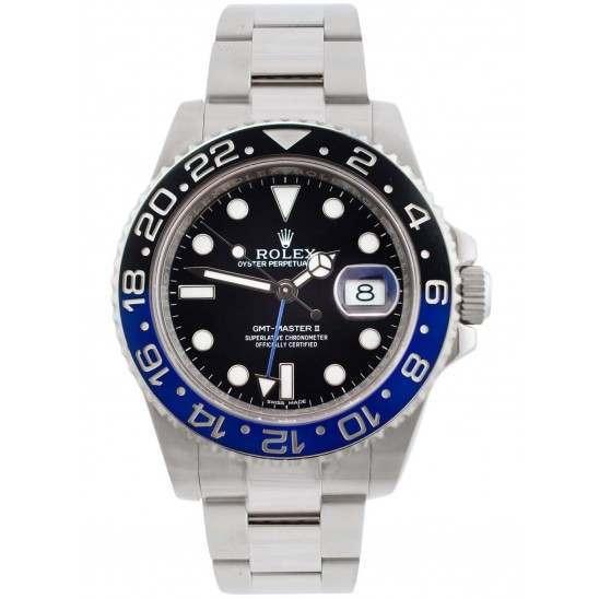 "Unworn Rolex GMT-Master II Steel Black & Blue ""Batman"" 116710BLNR"