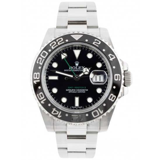 Rolex GMT-Master II Stainless Steel Black Dial 40mm 116710LN