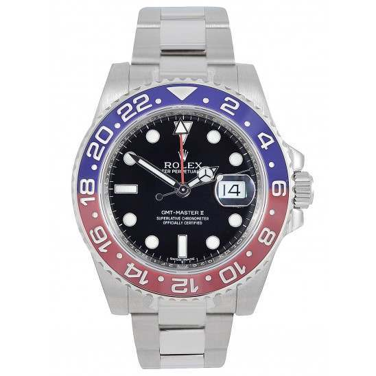 Rolex GMT-Master II Black Dial Blue and Red Bezel 116719BLRO