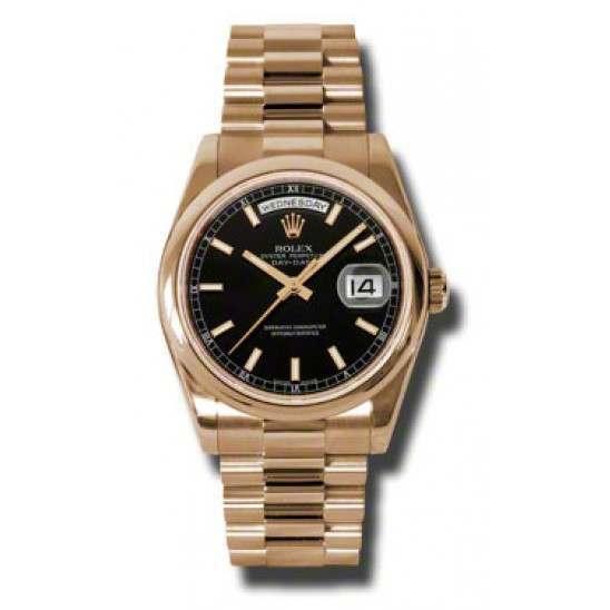 Rolex Day-Date Black/index President 118205