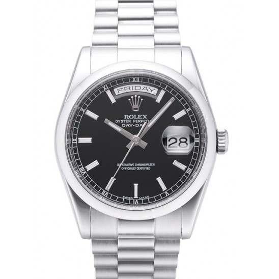 Rolex Day-Date Black/index President 118206