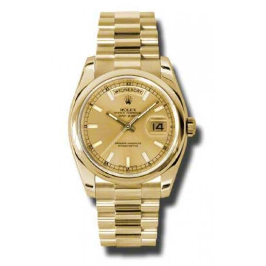 Rolex Day-Date Champagne/index President 118208