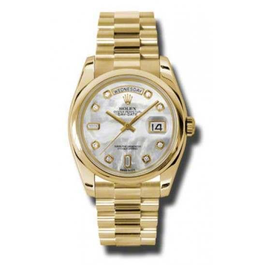 Rolex Day-Date White mop/Diamond President 118208