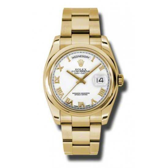 Rolex Day-Date White Roman Oyster 118208