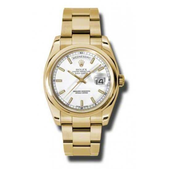 Rolex Day-Date White/index Oyster 118208