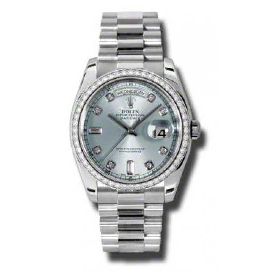 Rolex Day-Date Ice Blue/Diamond President 118346