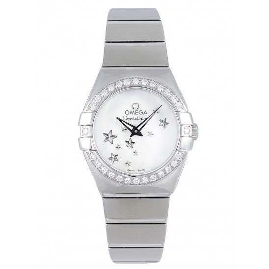 Omega Constellation Brushed Quartz Diamonds 123.15.24.60.05.003