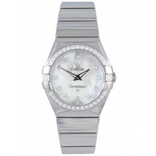 Omega Constellation Polished Quartz Diamonds 123.15.27.60.55.003