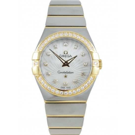 Omega Constellation Brushed Quartz Diamonds 123.25.27.60.55.004