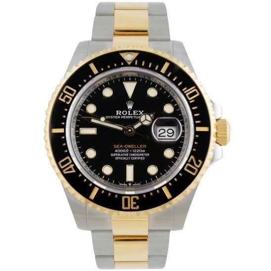 Rolex Sea-Dweller Black/ Index Oystersteel and Yellow Gold 126603
