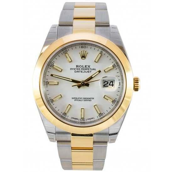 Rolex Datejust 41 White/ Index Oyster 126303 - 2017