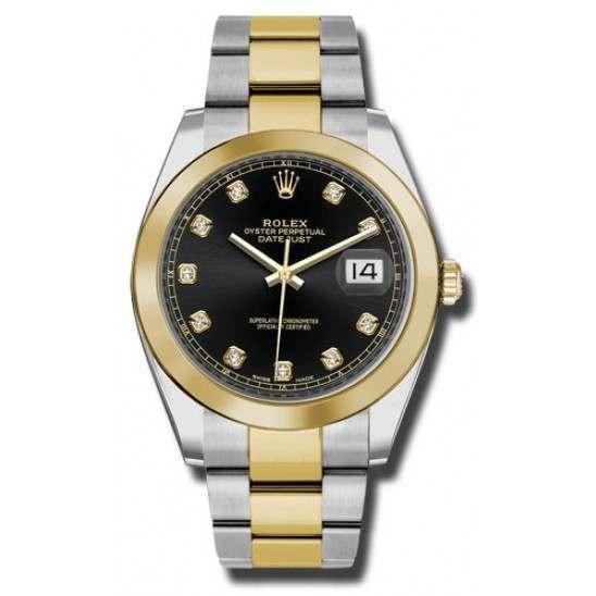 Rolex Datejust 41 Black/ Diamond Oyster 126303