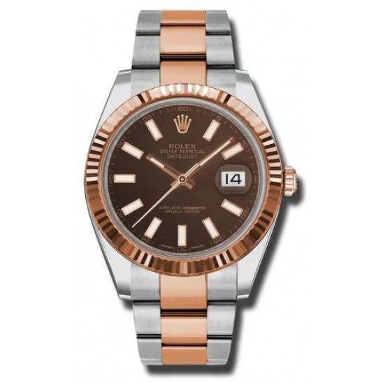 Rolex Datejust 41 Chocolate/index Oyster 126331