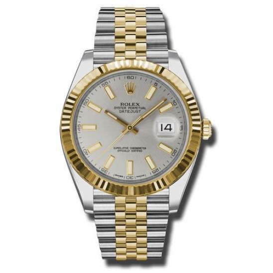Rolex Datejust 41 Steel and Yellow Gold Silver/Index Jubilee 126333