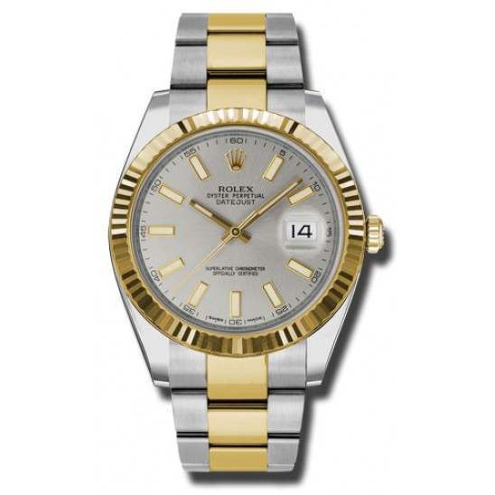Rolex Datejust 41 Steel and Yellow Gold Silver/Index Oyster 126333