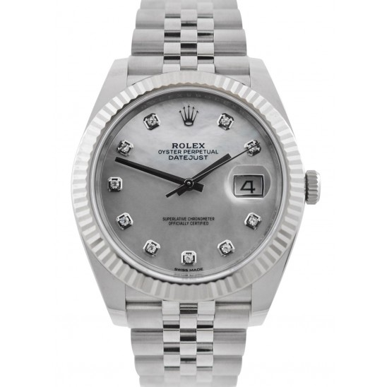 As New Rolex Datejust 41 Steel&Gold White MOP/ Diamonds Jubilee 126334