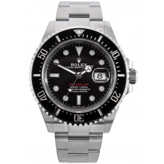 "Rolex Sea-Dweller 4000 Black Dial ""Red Writing"" Steel and Ceramic 126600"