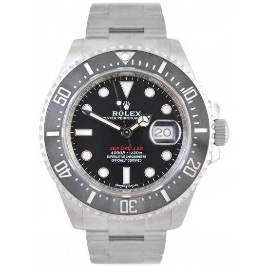 "Rolex Sea-Dweller 4000 Black/index ""Red Writing"" 126600 No Seals"