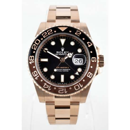"Rolex GMT-Master II Everose Gold ""Rootbeer"" 126715CHNR"