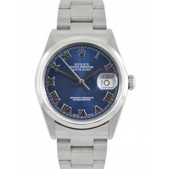 Rolex Datejust Blue/ Roman Dial Oyster 16200