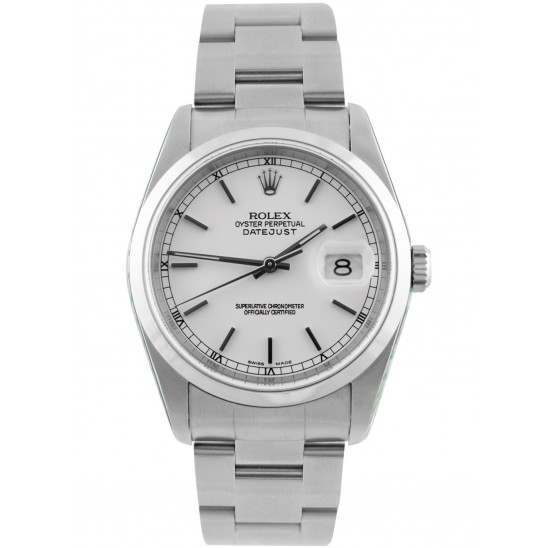 Rolex Datejust White/ Index Dial Oyster 16200