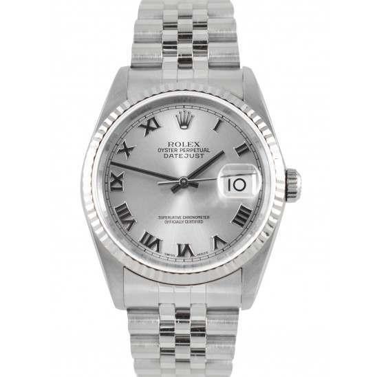 Rolex Datejust Rhodium/ Roman Dial Jubilee 16234