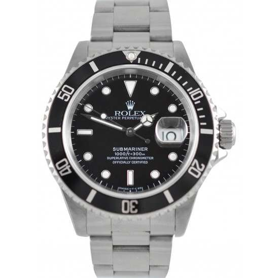 Rolex Submariner Date Black Dial 16610