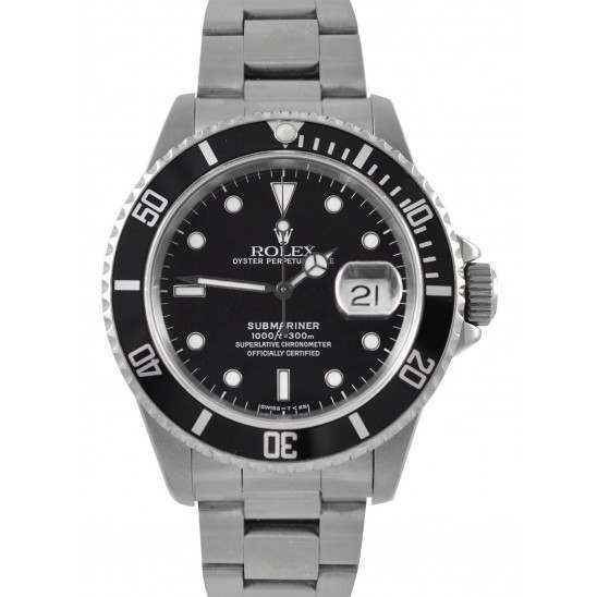 Rolex Submariner Date Black Dial Automatic 16610