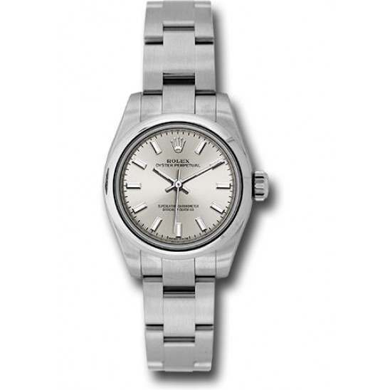 Rolex Oyster Perpetual 26 Silver/ Index Oyster 176200