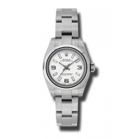 Rolex Perpetual No-Date 26mm White Arab Oyster 176200