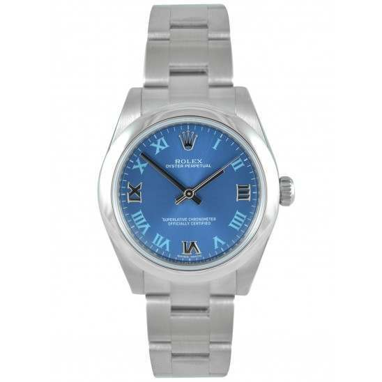 Rolex Oyster Perpetual 31mm Azzuro Blue Roman Oyster 177200