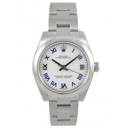 Rolex Oyster Perpetual 31mm White Roman Oyster 177200