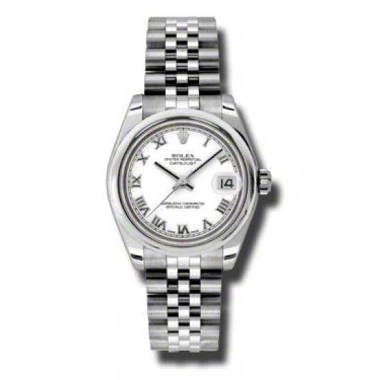 Rolex Lady Datejust 31mm White Roman Jubilee 178240