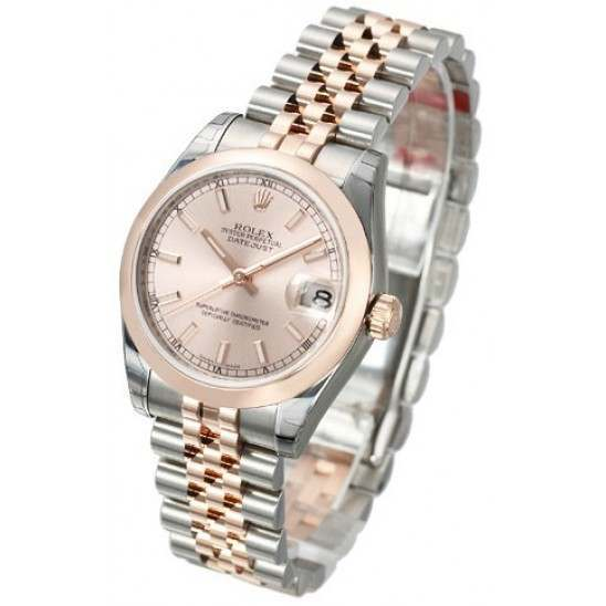Rolex Lady Datejust 31mm Pink/index Jubilee 178241