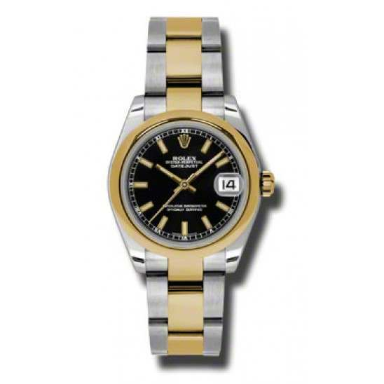 Rolex Lady Datejust 31mm Black/index Oyster 178243