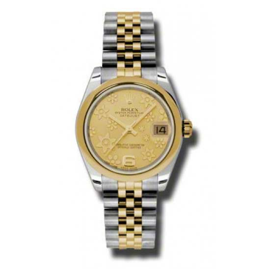 Rolex Lady Datejust 31mm Champagne/Arab 6 Jubilee 178243