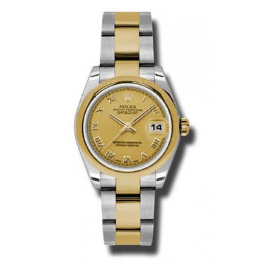 Rolex Lady Datejust 31mm Champagne Roman Oyster 178243
