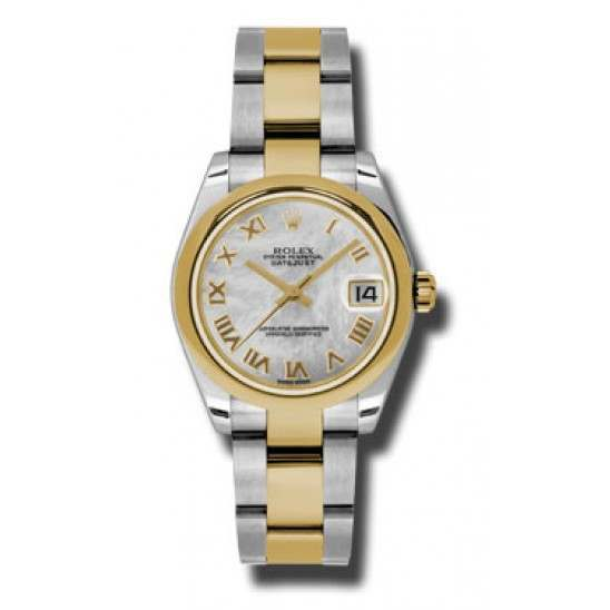 Rolex Lady Datejust 31mm White mop Roman Oyster 178243