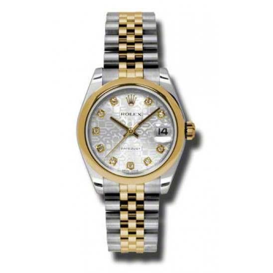 Rolex Lady Datejust 31mm Silver Jub/diamond Jubilee 178243