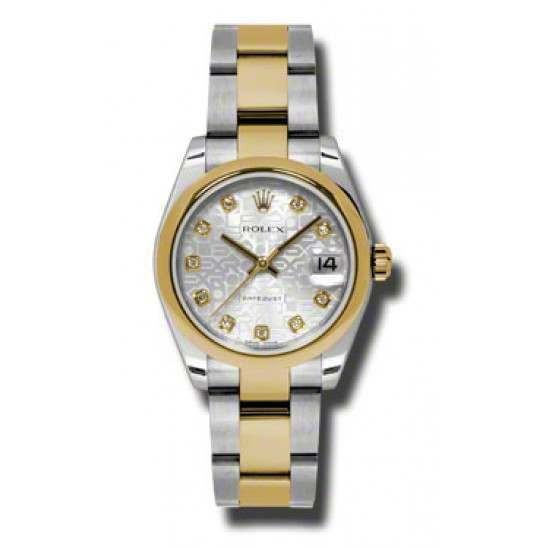 Rolex Lady Datejust 31mm Silver Jub/diamond Oyster 178243