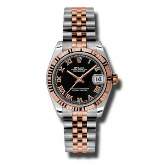 Rolex Lady Datejust 31mm Black Roman Jubilee 178271