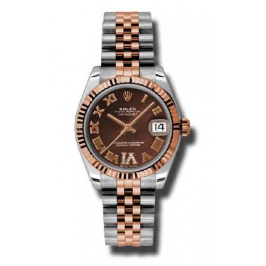 Rolex Lady Datejust 31mm Chocolate Roman Jubilee 178271