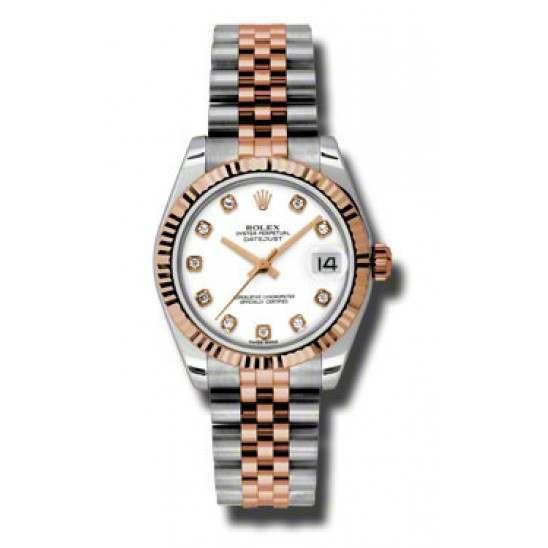 Rolex Lady Datejust 31mm White/diamond Jubilee 178271