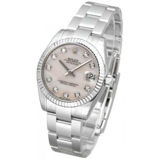 Rolex Lady Datejust 31mm Pink mop/diamond Oyster 178274