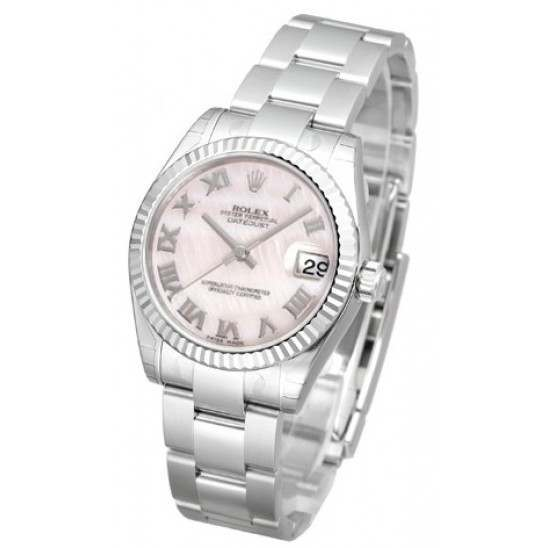 Rolex Lady Datejust 31mm Pink mop Roman Oyster 178274