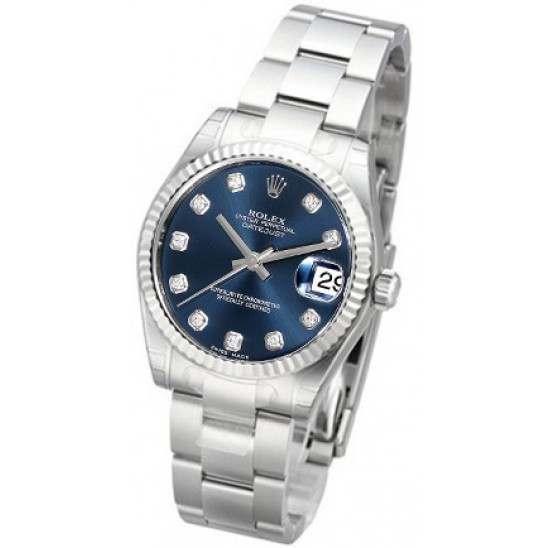 Rolex Lady Datejust 31mm Blue/diamond Oyster 178274