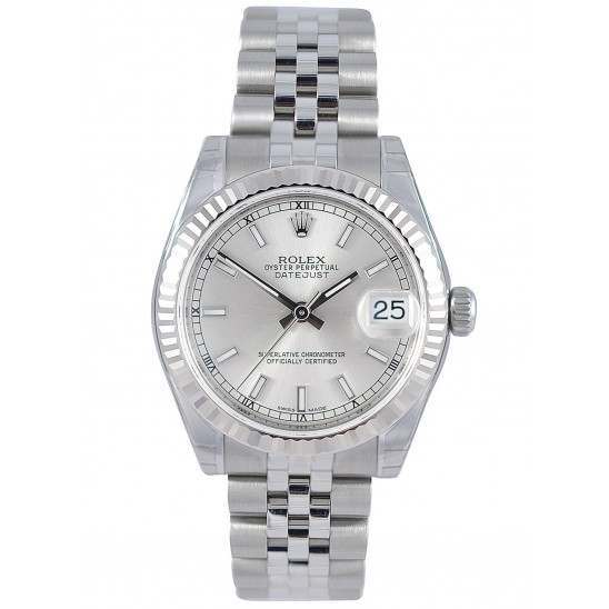 Rolex Lady Datejust 31mm Silver/index Jubilee 178274